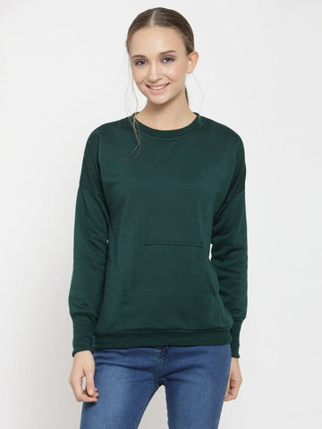 Belle Fille Green Diva Sweatshirts