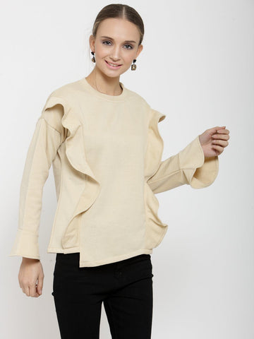 Belle Fille Saucy Beige Sweatshirts