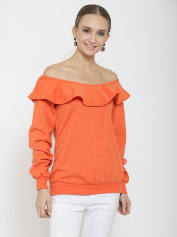 Belle Fille Cute N Cool Orange Sweatshirts