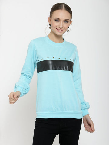 Belle Fille Calm And Cozy Turquoise Blue Sweatshirts