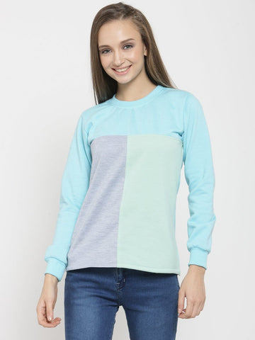 Belle Fille Trendy Turquoise Blue Sweatshirts