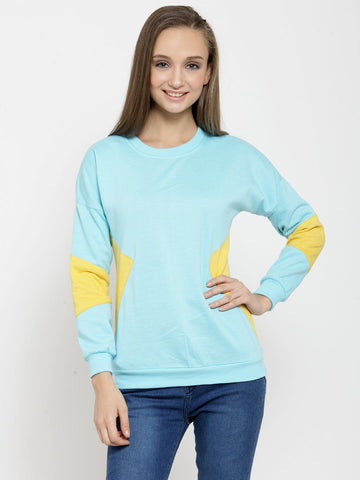 Belle Fille Stylish Turquoise Blue Sweatshirts