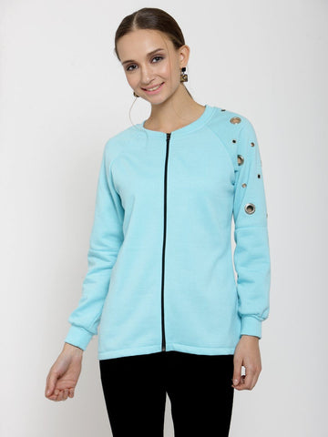 Belle Fille Curl Up!Turquoise Blue Sweatshirts