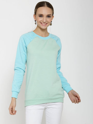 Belle Fille Cozy Sea Green Sweatshirts