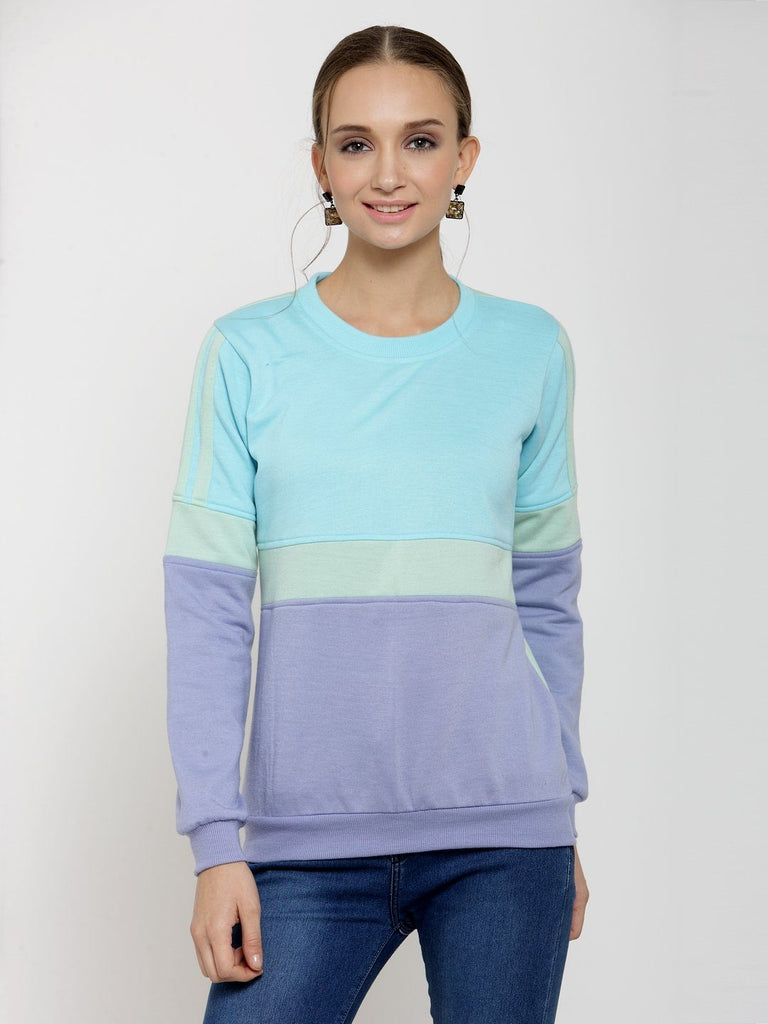 Belle Fille Turquoise Blue Breezy Sweatshirts