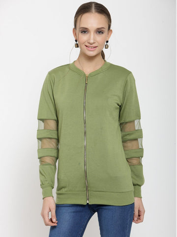 Belle Fille Olive Green Sweatshirts