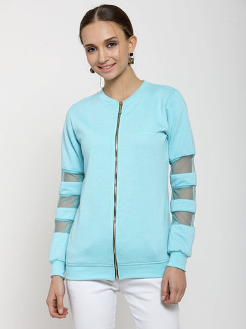 Belle Fille Basic Turquoise Blue Sweatshirts