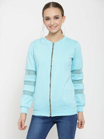 Belle Fille Turquoise Blue Saucy Sweatshirts