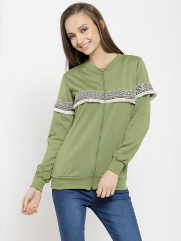 Belle Fille Pure Olive Sweatshirts