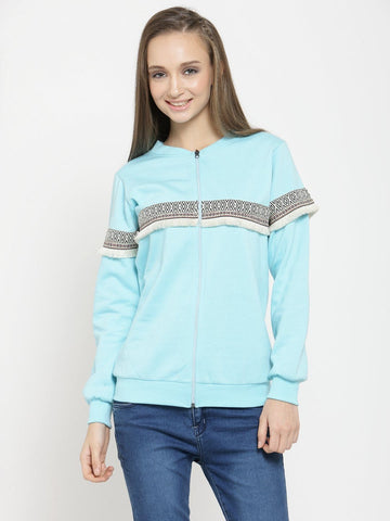 Belle Fille Color Me Turquoise Blue Sweatshirts