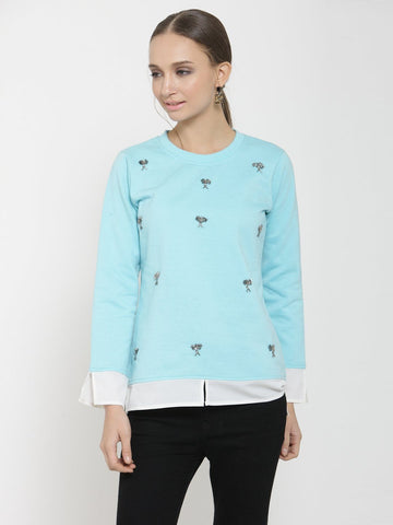 Belle Fille Sweet Turquoise Blue Sweatshirts