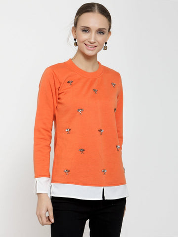 Belle Fille Casual Chaos Orange Sweatshirts