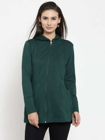 Belle Fille Edgy Green Sweatshirts