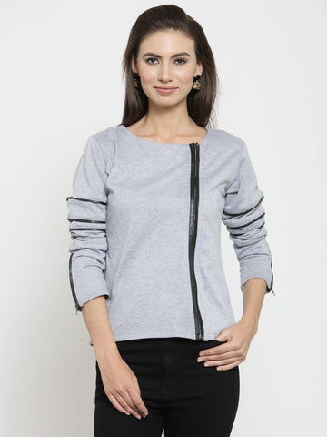 Belle Fille Carrying Grey Melange Sweatshirts