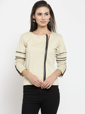 Belle Fille Baby In Beige Sweatshirts