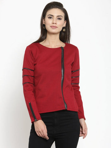 Belle Fille Pure Maroon Sweatshirts