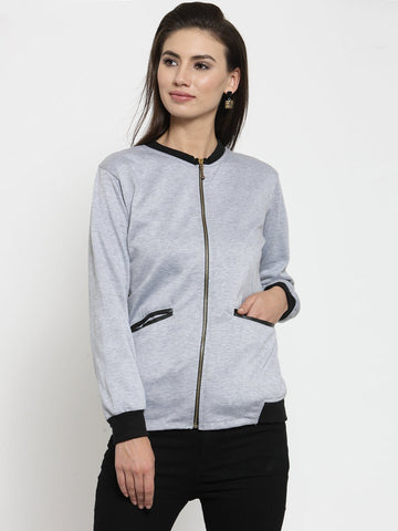 Belle Fille Grey Melange Racy Sweatshirts