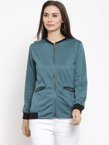 Belle Fille Teal Basic Sweatshirts