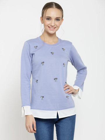 Belle Fille Blue Saucy Sweatshirts