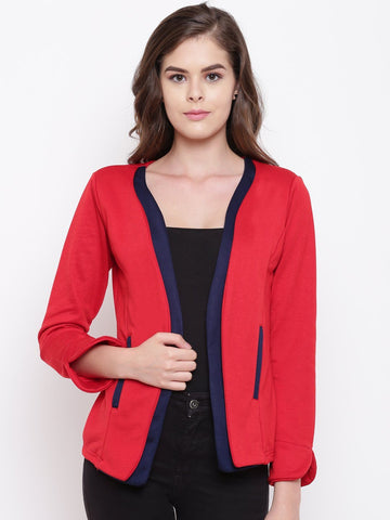 Belle Fille Full-length Red & Navy  Coat