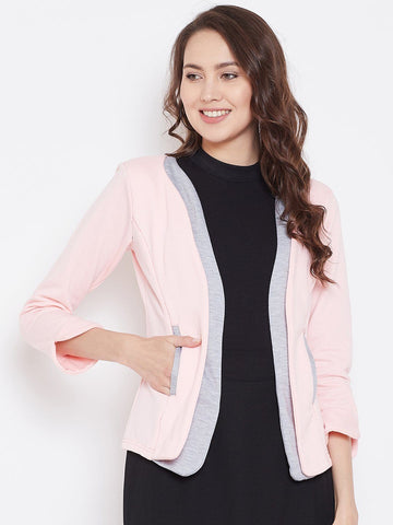 Belle Fille Full-length Pink & Lt. Grey Coat