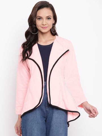 Belle Fille Full-length Pink & Black Coat
