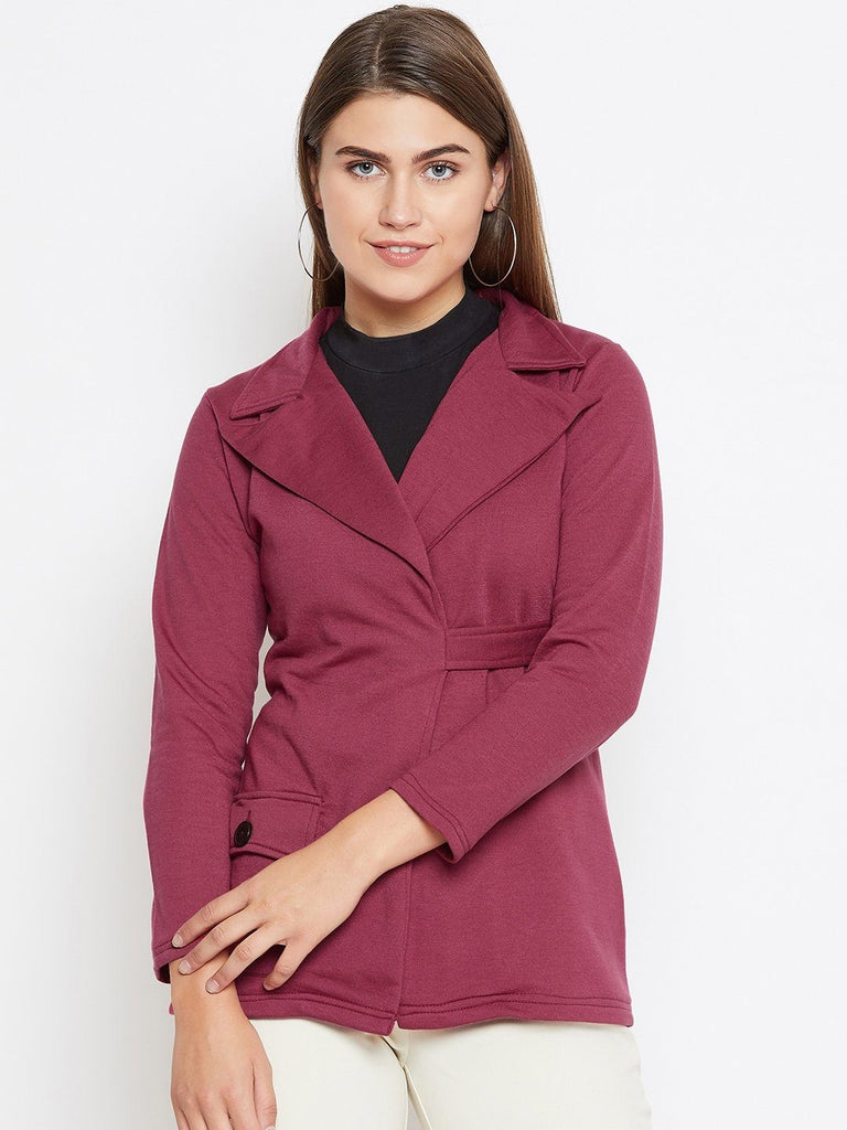 Belle Fille Full-length Maroon Coat