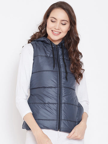 Belle Fille Sleeveless Navy Blue Jacket