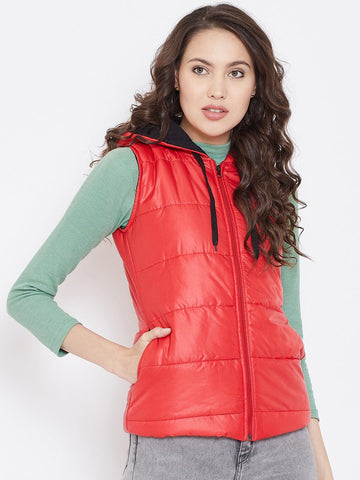 Belle Fille Sleeveless Red Jacket
