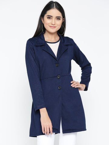 Belle Fille Full-length Navy Blue Coat