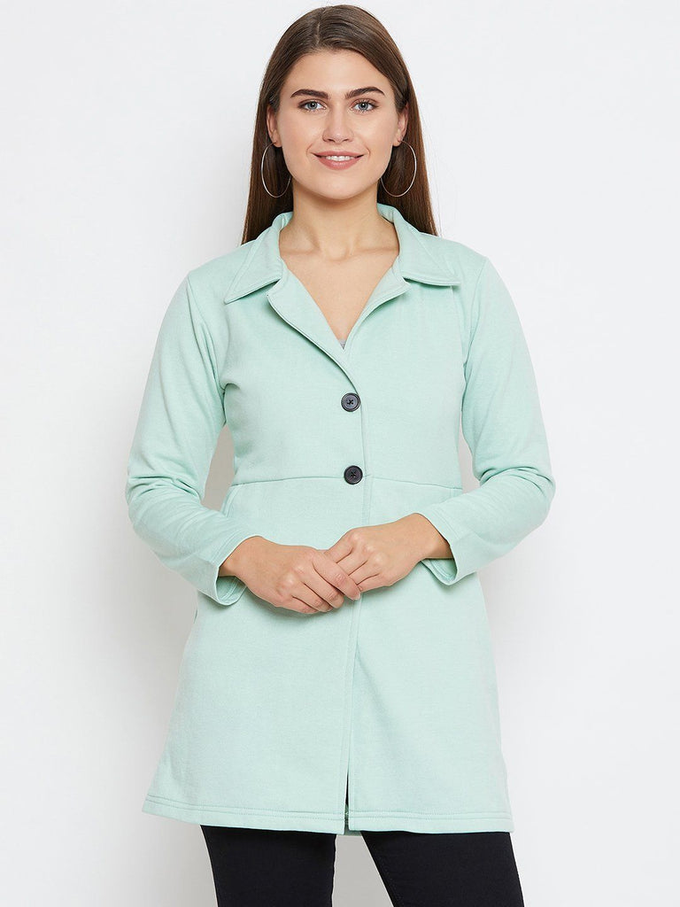 Belle Fille Full-length Sea Green Coat