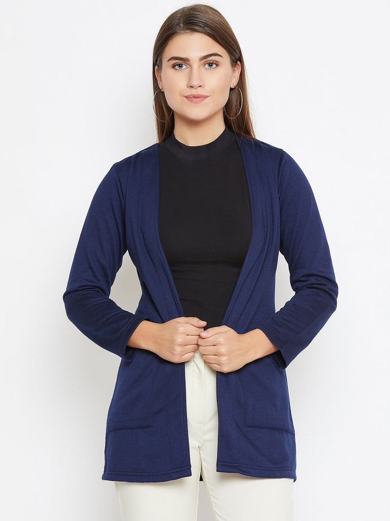 Belle Fille Full-length Navy Blue Shrug