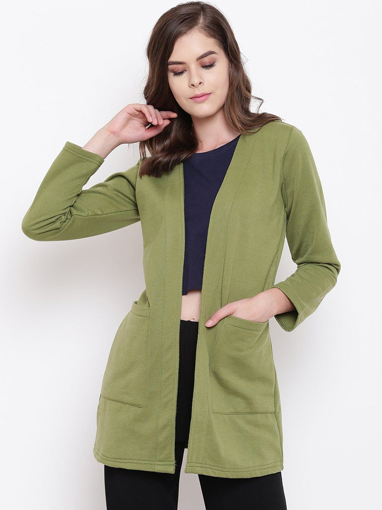 Belle Fille Full-length Olive Shrug