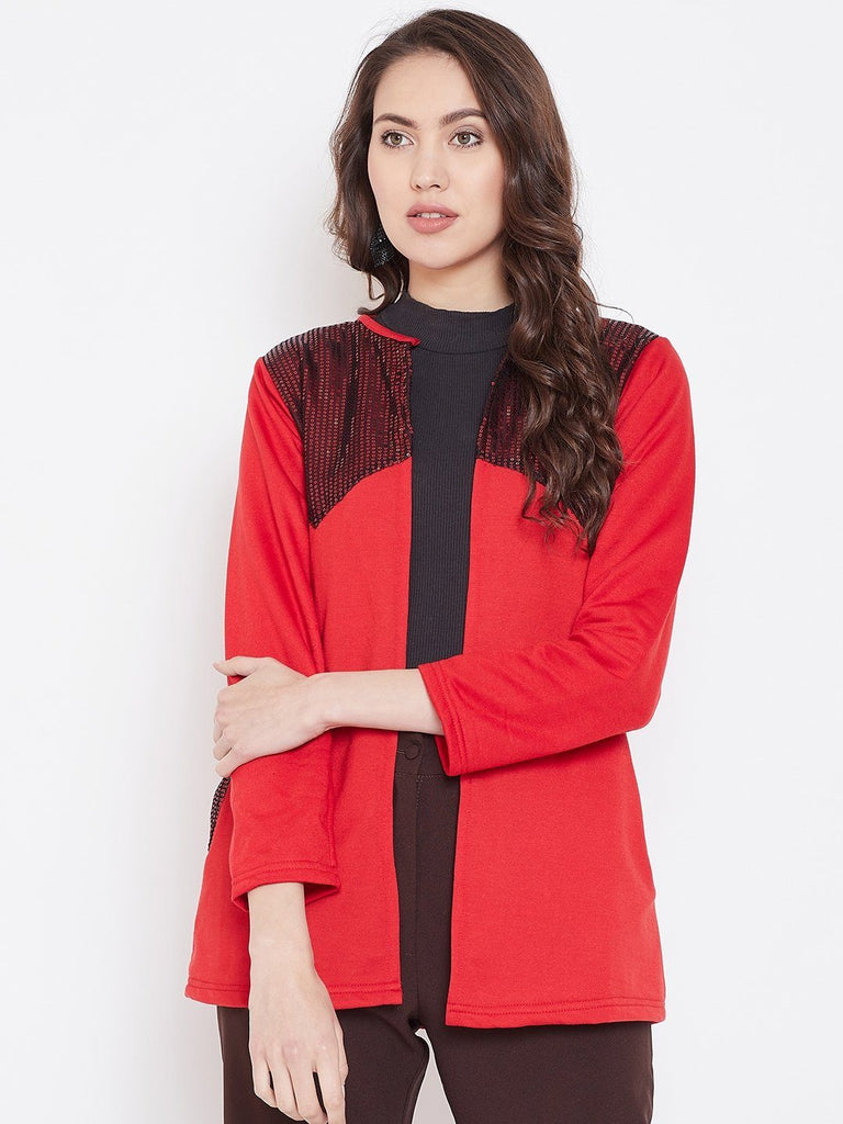 Belle Fille Full-length Red Shrug