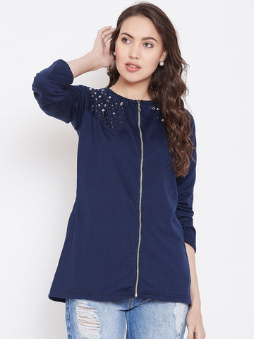 Belle Fille Full-length Navy Blue Jacket