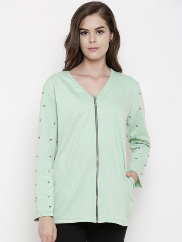 Belle Fille Full-length Sea Green Jacket