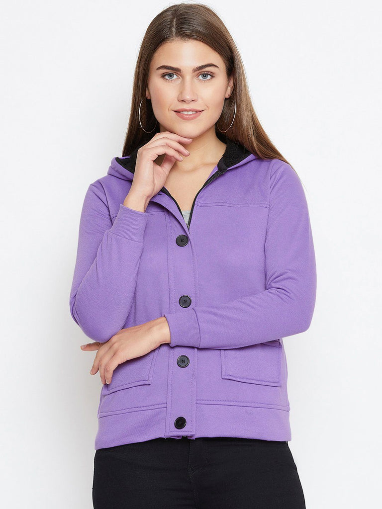 Belle Fille Full-length Violet Jacket