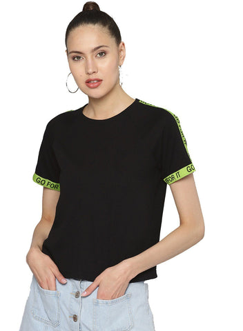 Besiva Women's Black Tape T-Shirt