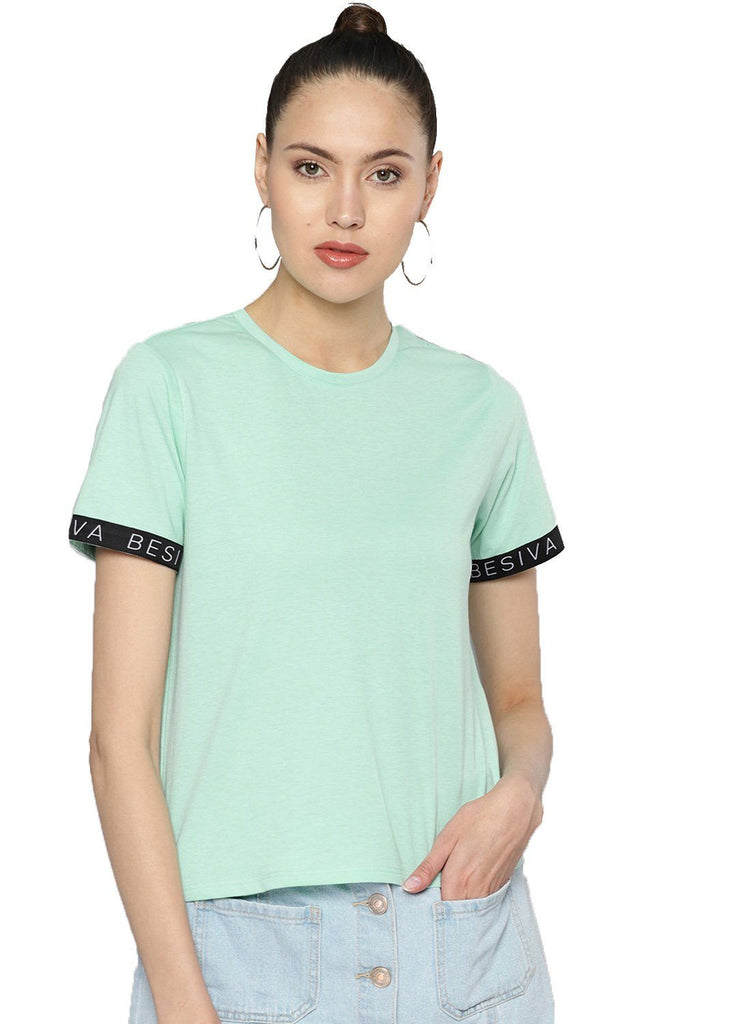 Besiva Women's Green Tape T-Shirt
