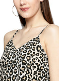 Besiva Women's Animal Print Spaghetti Top
