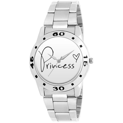 Silver Chained Princess Dial Watch