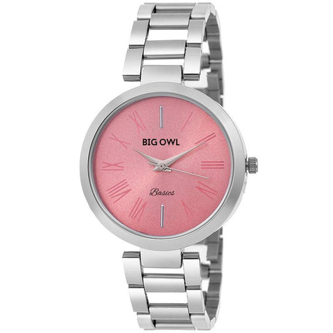 Pretty Pink Dial Stylish Watch