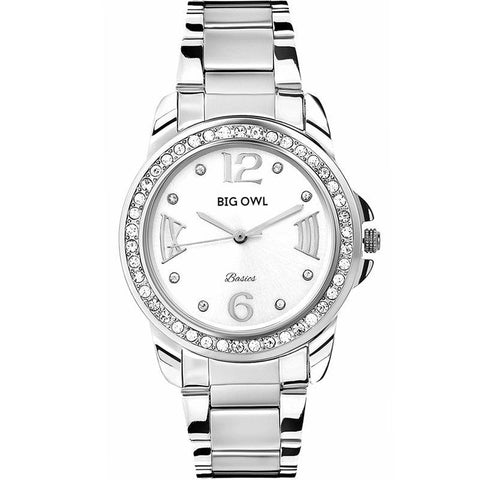 Silver Diamond Stainless Steel Watch