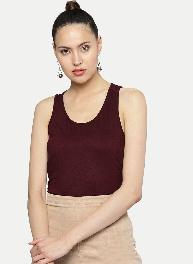 Besiva Women's Wine Tank Top