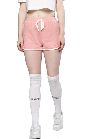 Besiva Women's Pink Cotton Shorts
