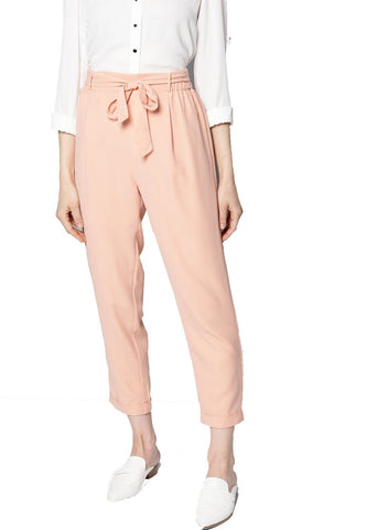 Besiva Women's Peach Belted Trouser