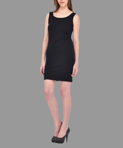 Black Sleevless Bodycon Dress