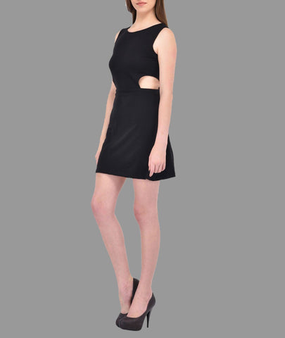 Black cutout waist Dress