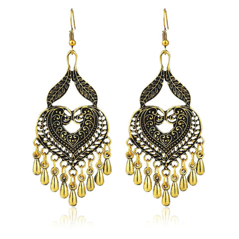 Crunchy Fashion Gold Dangler Earring for Women & Girls