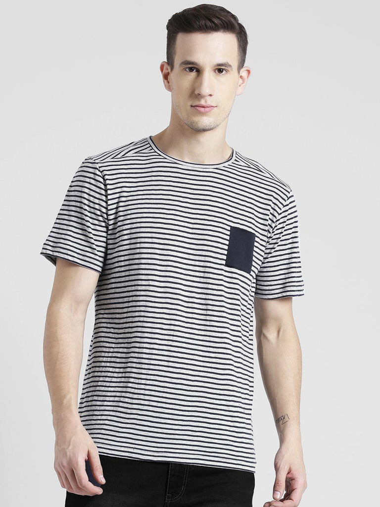 Half sleeve Stripe T-Shirt For Men